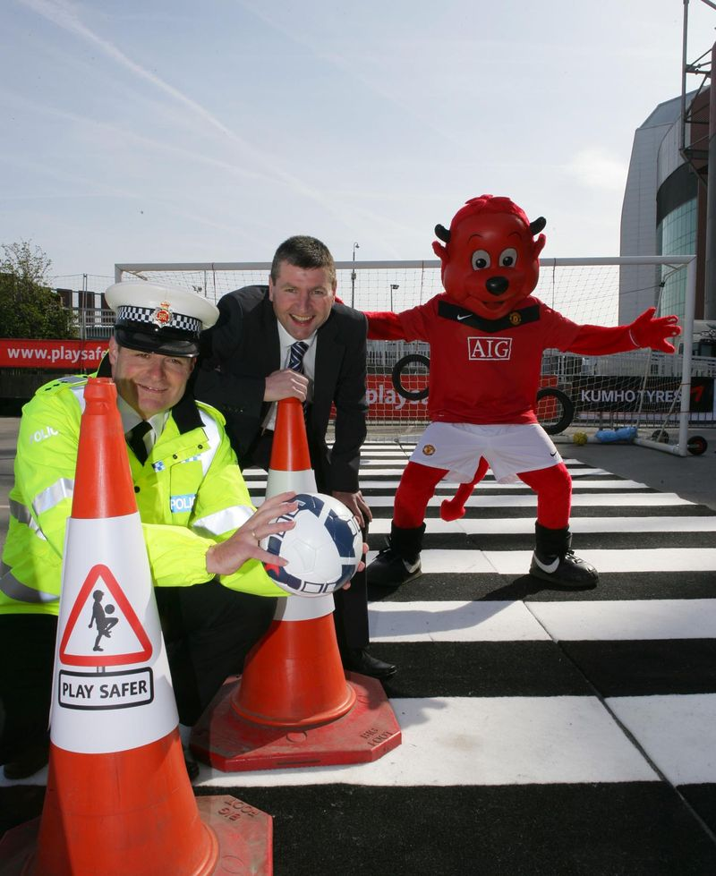 Denis Irwin, Greater Manchester Police Officer and Fred the Red